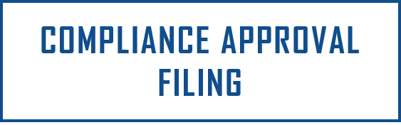 Compliance/Approval Filing